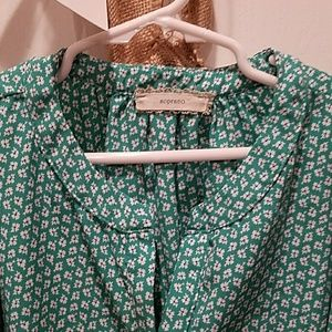 Soprano Girls M Blouse, Mint Green, Long Sleeve